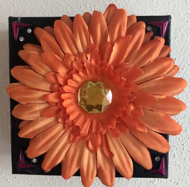 Orange Silk Flower 45