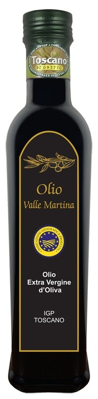 Bottiglia 0,50 LT. Olio Extravergine IGP Toscano Certificato Valle Martina