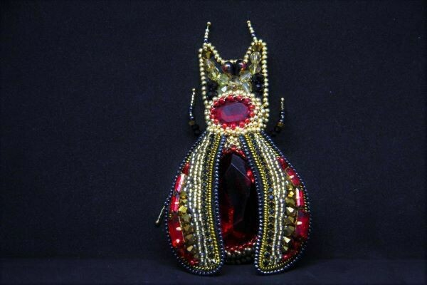 "Brooch ""Ruby baby"""