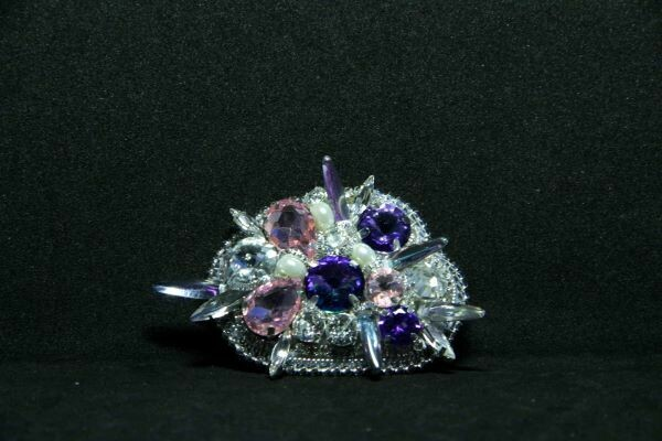 "Brooch with crystals ""Sky in diamonds"""