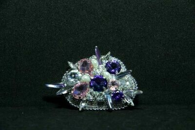 Brooch with crystals