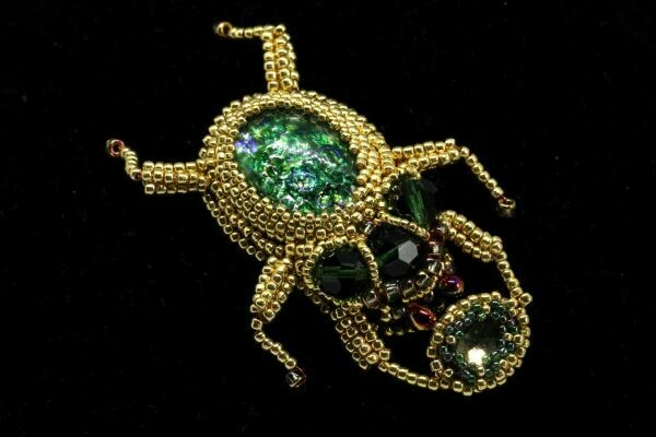 """Brooch with crystal """"Scarab"""""""