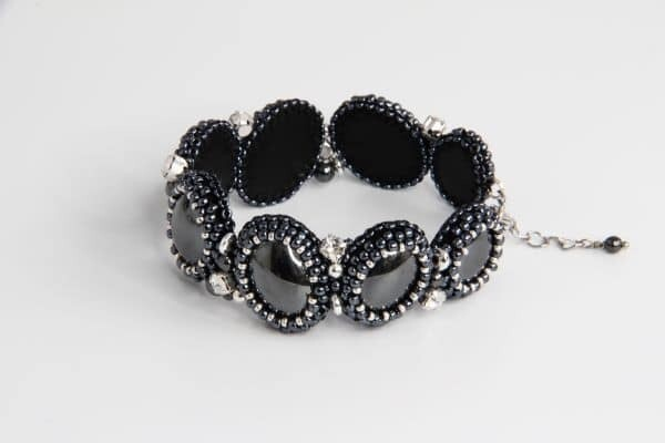 Bracelet made of natural hematite