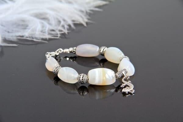 "Bracelet made of natural stones ""Selena"""