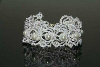 """Lacy bracelet """"Winter's Tale"""""""