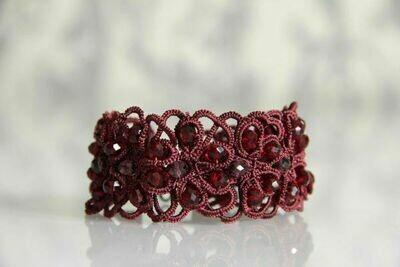"""Red lace bracelet """"Ruby"""""""