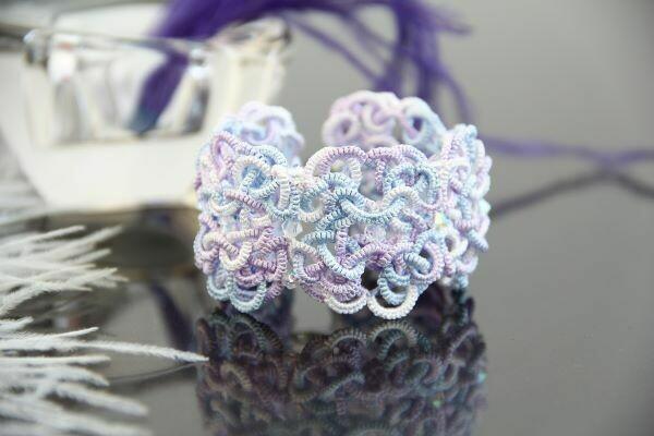 Handmade lace bracelet
