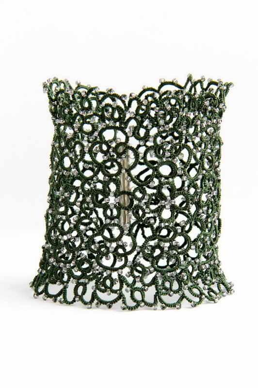 Wide lacy bracelet