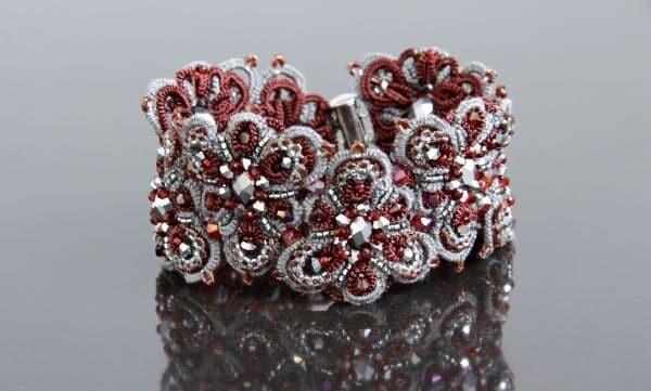 """Multilace bracelet """"Orion Bordeaux"""""""