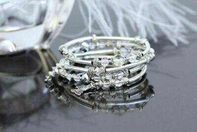 "Bracelet with a butterfly ""Crystal"""