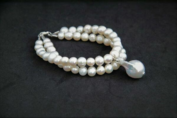 """Bracelet with pearls """"Baroque"""""""