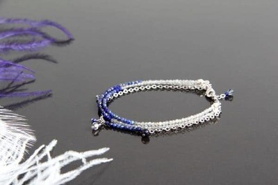 """Bracelet with natural stones """"Isabelle"""""""