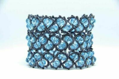 "Wide bracelet ""Turquoise"""