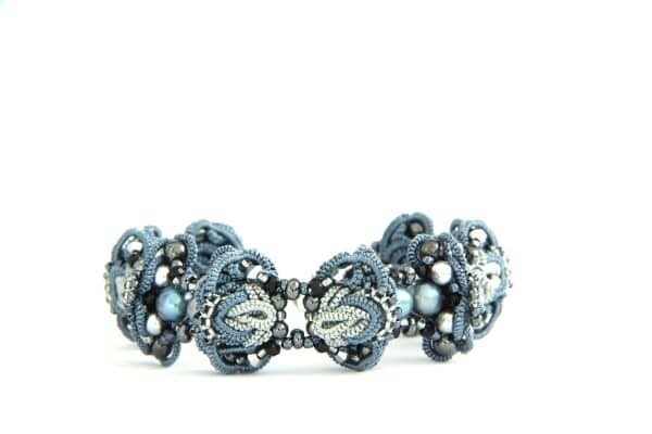 "​Multilace bracelet ""Silver Crystal New"""