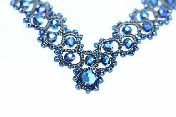 "Lace necklace ""Labyrinth"""