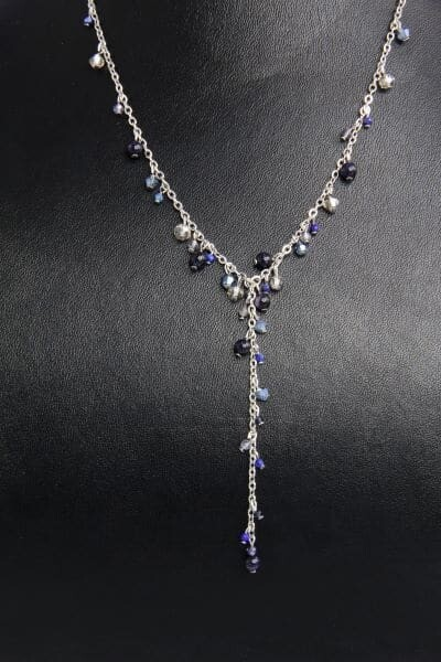 """Princess"" necklace with natural stones ""Isabelle"""