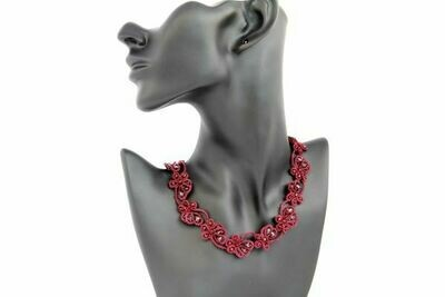 Lacy red necklace