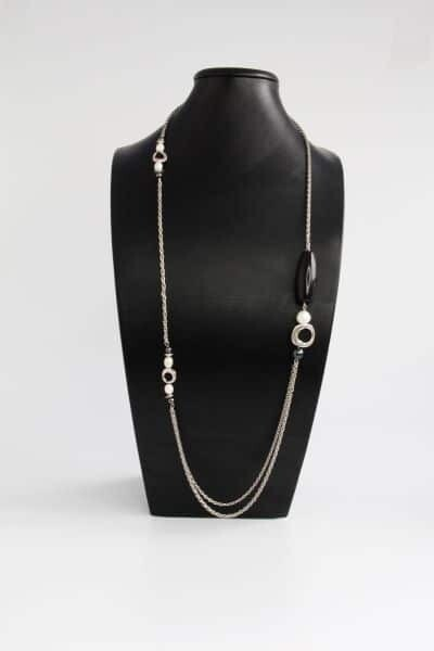 """Opera necklace with natural pearls """"Leticia"""""""