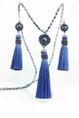 "Jewelry set ""Duchess"" blue"
