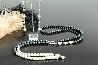 """Set of pearl jewelry """"Lady"""""""