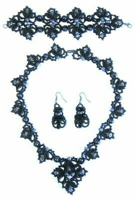 """Set of lace jewelry """"Gray Moon"""""""