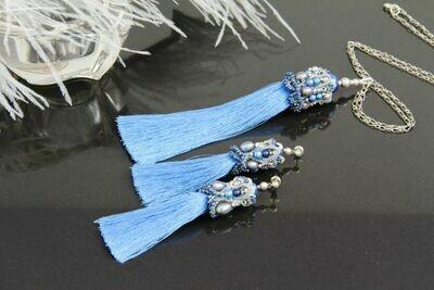 "Set of jewelry with pearls ""Scheherazade"""