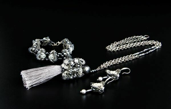 "Set of lace ""Silver Crystal"""