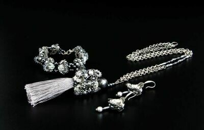 """Set of lace """"Silver Crystal"""""""
