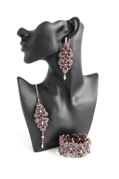 """Lace set """"Orion Bordeaux"""""""