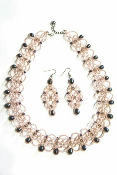 "Set with pearls ""Romance"""