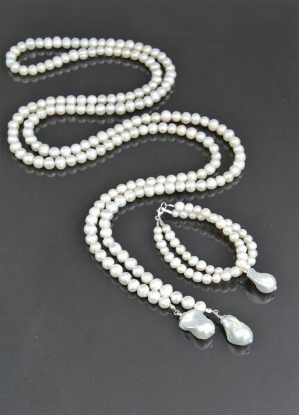"​Jewelry set ""Baroque White"""