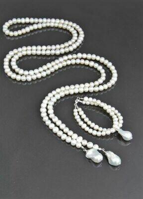 """Jewelry set """"Baroque White"""""""