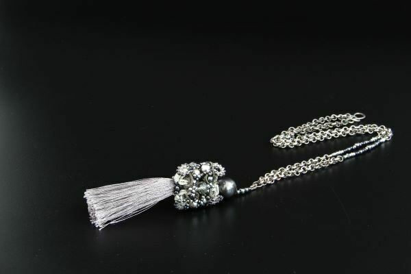 """Lacy pendant """"Silver Crystal"""""""