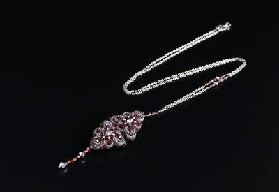 """Lacy pendant """"Orion Bordeaux"""""""