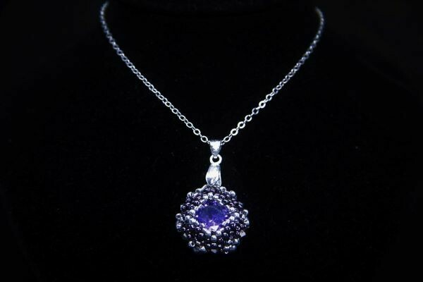 """Pendant with crystal """"Violet"""""""