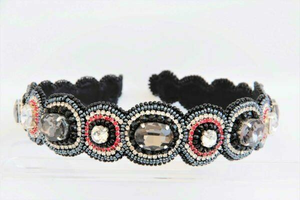 """Black & White"" tiara (hoop)"