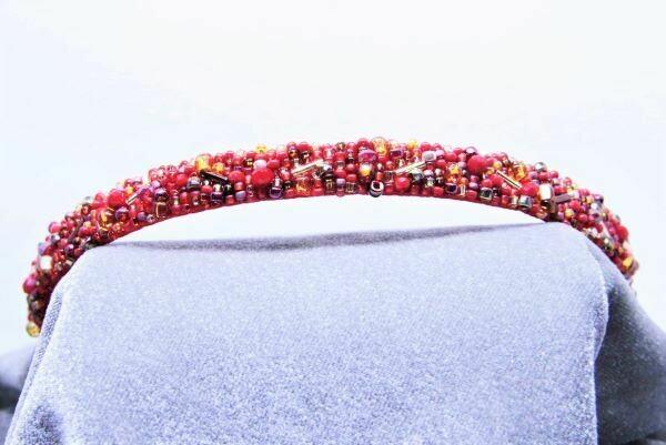 "Headband ""Red & Gold"""