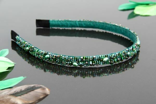 "​Green head hoop ""Malachite"""