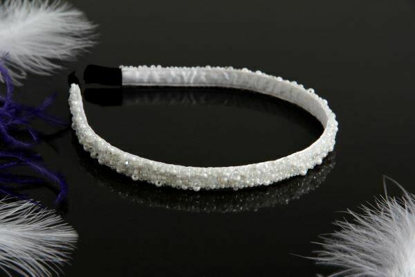 "The head hoop ""White Snow"""