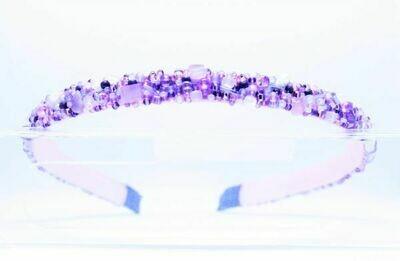 "Нoop with stones light purple ""Amethyst"""