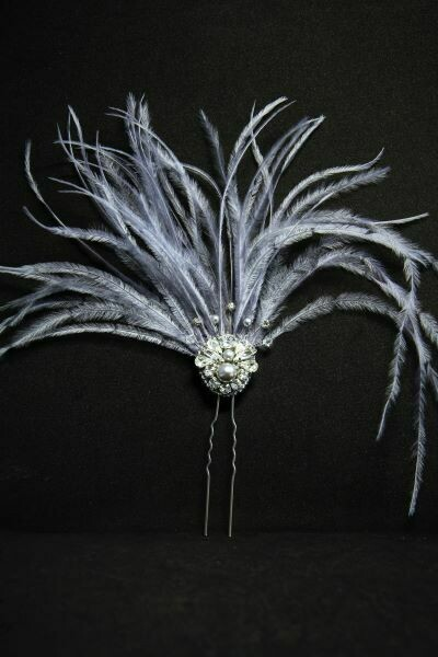 Hair accessory with crystals