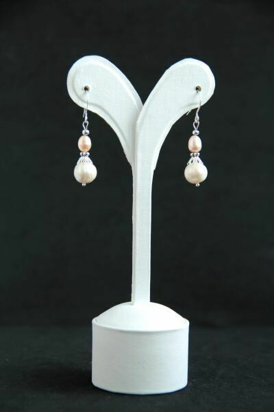 """Earrings with natural pearls """"Dual Drops"""""""