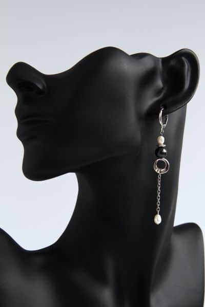 """Earrings with natural pearls """"Letizia"""""""