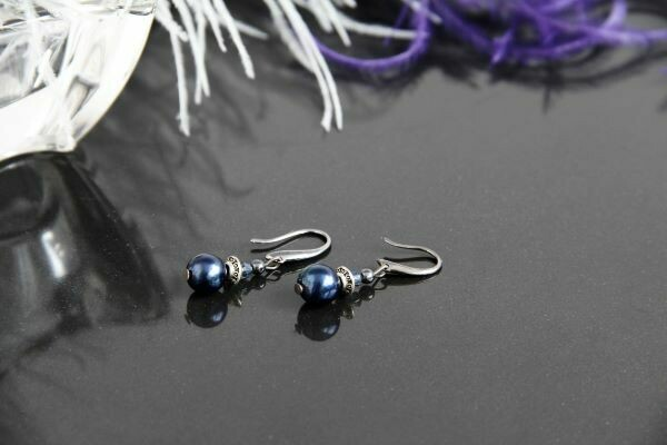 """Earrings with natural pearls """"Francesca"""""""