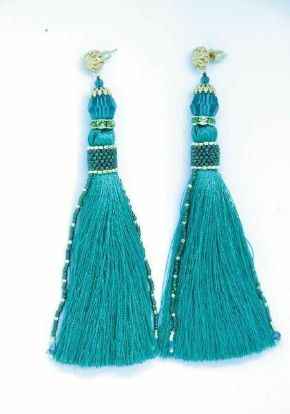 """Earrings-tassels """"Absinthe"""""""