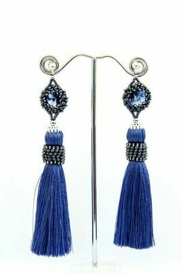 Tassel earrings with crystals