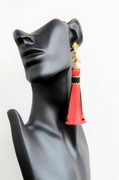 """Earrings-tassels """"Golden Bee"""""""