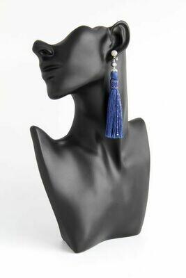 Earrings-tassels blue