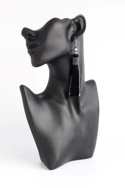 """Earrings-tassels black """"Black"""""""