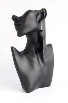 Earrings-tassels black
